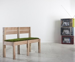 Designed by Lebanese architect, Fadi Sarieddine, this indoor seating is inspired by g...