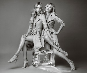 Iconic British models Kate Moss and Cara Delevingne, shot together for the first time...