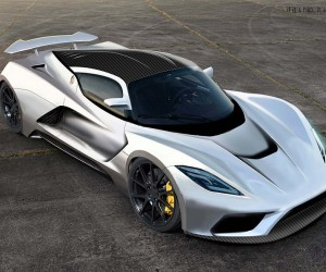 Hennessey aims for a top speed of 290 mph with the new Hennessey Venom F5. Only 30 ca...